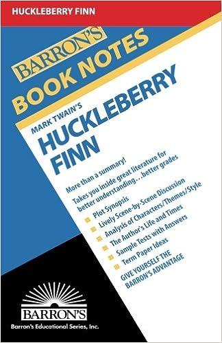 Huckleberry Finn Barrons Book Notes Mark Twain 9780812034202