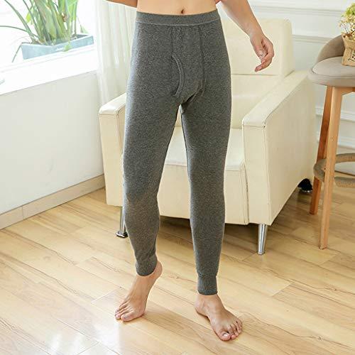 Pantaloni Puro Gray Bottompants Confortevole Colore autunno Dark Leggings Termico Inverno Intimo Uomo Modaworld Caldo SOqUzdd