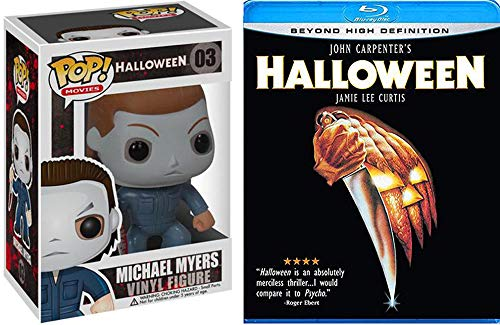 (Michael Myers 1978 Horror Pack - John Carpenter's Halloween Blu Ray Original Movie Starring Jamie Lee Curtis & Action Figure Pop Collectible Thrill)