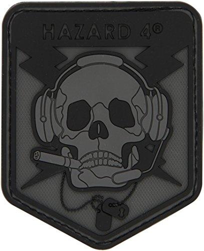HAZARD 4 9005153 Custom Special Operations Skull Rubber 3D Patch, Black/Grey