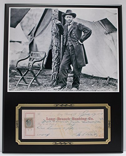 ULYSSES S. GRANT CIVIL WAR REPRODUCTION SIGNED LIMITED EDITION CHECK DISPLAY
