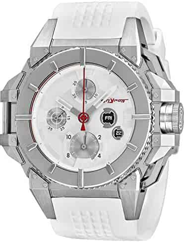 16c6e95a9e0 Snyper One Pure Stainless Steel Chronograph Automatic Watches For Men Swiss  Made - 43mm Analog Silver