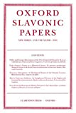 Oxford Slavonic Papers 2000 9780198160168
