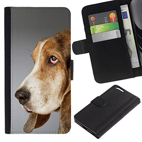 OMEGA Case / Apple Iphone 6 PLUS 5.5 / pointer dog English foxhound / Cuir PU Portefeuille Coverture Shell Armure Coque Coq Cas Etui Housse Case Cover Wallet Credit Card