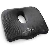 Cojín de asiento PharMeDoc para silla de oficina y asiento de auto - Cojín ortopédico de coco para ciática, espalda, alivio del dolor de la cola - Almohada de cojín de cóccix para sillas