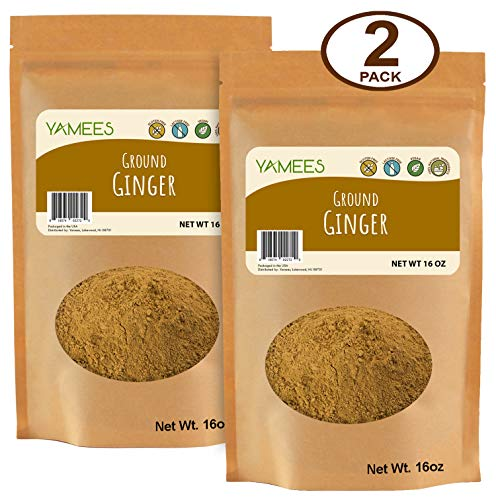 Yamees Ginger Powder - Ground Ginger - Dried Ginger Powder - Dry Ginger Powder - Bulk Spices - 2 Pack of 16 Ounce - Pack Ounce Each 16
