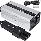 Mophorn 48V 5A Golf Cart Battery Charger with YMH Style Plug Handle and 2 LED Indicator Lights for Club Car Yamaha