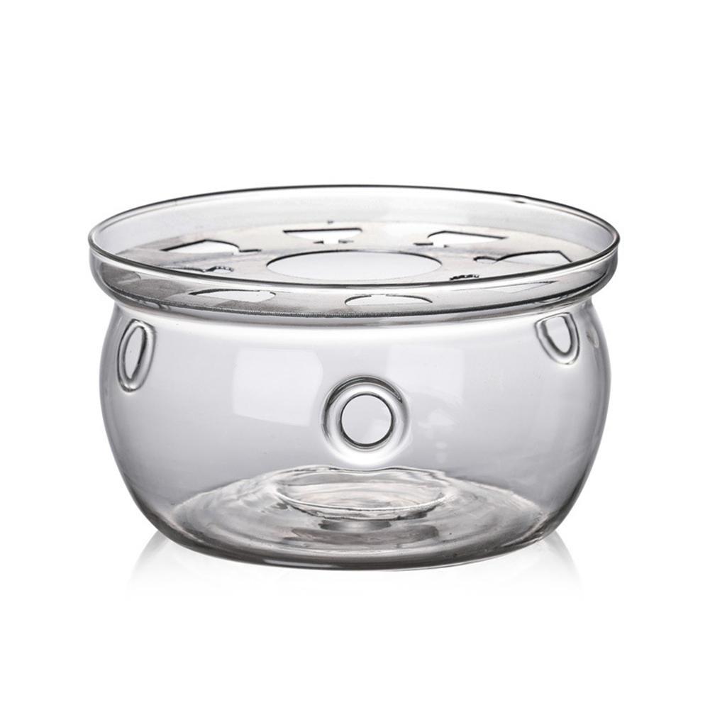 HoneybeeLY Teelichthalter aus Glas, beheizter Sockel für Tee, hitzebeständig, Teelichthalter, Teelichthalter hitzebeständig