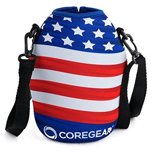 COREGEAR Mister & Sprayer Full Zippered Neoprene Insulated Sleeve (USA1, 1.5 Liter with Strap)