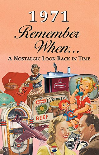 1971 REMEMBER WHEN CELEBRATION KARDLET: Birthdays, Anniversaries, Reunions, Homecomings, Client & Corporate Gifts