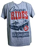 Ford Mustang Men's Cougar Vintage Muscle Car T-Shirt (2X (50/52))