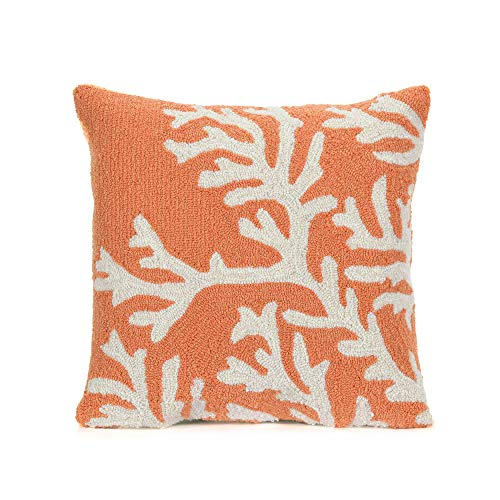 Liora Manne Whimsy Reef Life Indoor/Outdoor pillow, Coral -18