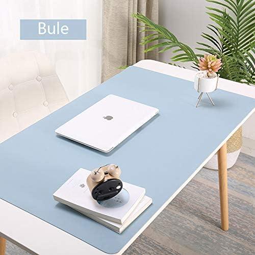 Schreibtischunterlage, ultradünn, wasserdichte PU-Leder-Mauspad, Anti-Rutsch-Tastaturmatte, Schreibunterlage für Büro, Zuhause, Arbeitszimmer 60 * 30cm blau