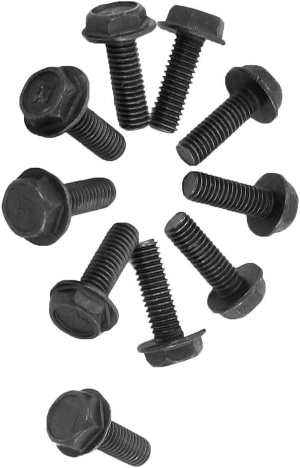 Aexit 10 pcs noir m/étallis/é 6mm diam/ètre filetage inverse Vis pour machine 575A506