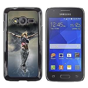 Be Good Phone Accessory // Dura Cáscara cubierta Protectora Caso Carcasa Funda de Protección para Samsung Galaxy Ace 4 G313 SM-G313F // Dance Woman Street Style Outfit Fashion Art