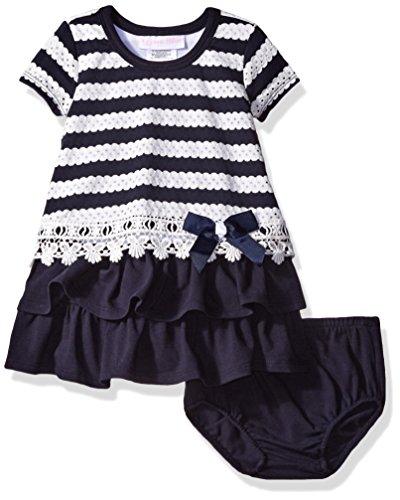 Bonnie Baby Baby Girl Nautical Dress, Stripe, 12 Months -