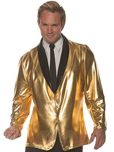 (Underwraps Men's 1950s Doo Wop Costume Jacket-Gold, Double)