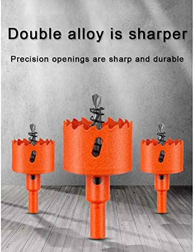 Ansemen 220mm Hole Saw, High Speed Steel M42, Red, Ideal for Cutting Steel, Aluminum, PVC Board, Plastic Plate and Wood