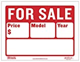 BAZIC 12'' X 16'' For Sale Sign for Car and Auto Sales (2-Line)