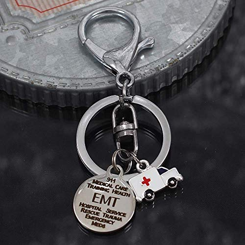 EMT First Responder Key Chain with Ambulance ()