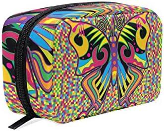 DragonSwordlinsu COOSUN Color Mariposa en Hippie Estilo Cosmético Bolso de Clutch Maquillaje Bolsa de Viaje Organizador Estuche de Toiletería para Mujer: Amazon.es: Belleza