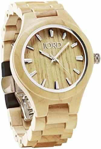 c3e466d97 JORD Wooden Wrist Watches for Men or Women - Fieldcrest Series/Wood Watch  Band/