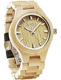 JORD Wooden Wrist Watches for Men or Women - Fieldcrest Series / Wood Watch Band / Wood Bezel / Analog Quartz...