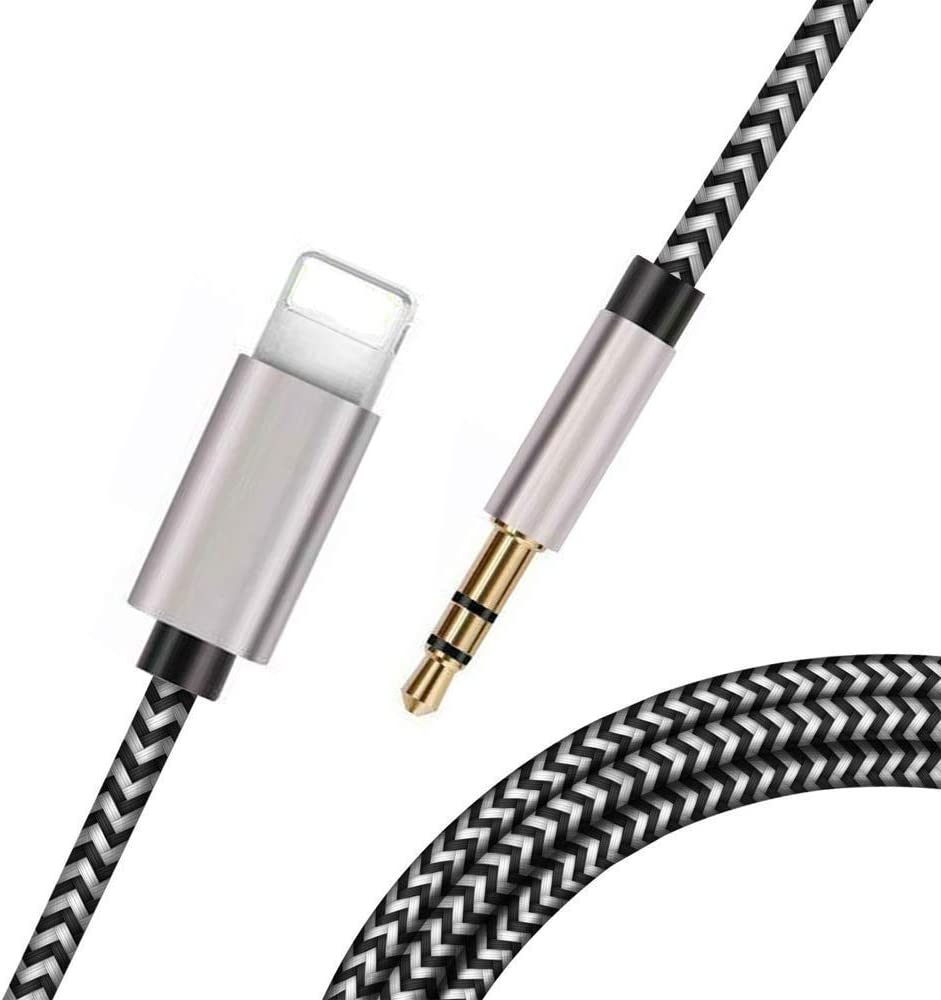Aux Cord for iPhone Lightning to 3.5 mm Headphone Jack Adapter Audio Auxiliary Cable for Car Compatible for iPhone 11 XS XR X 7 7P 8 8P Apple MFI Certified
