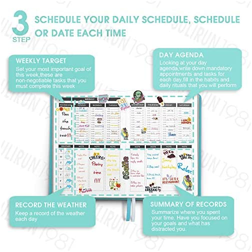 Simplified SULIRUN1981 Daily Planner - (Undated) Weekly Planner & Notebook - To Do List Planner for Organizes Your Daily…  