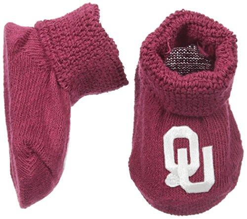 Two Feet Ahead NCAA Oklahoma Sooners Infant Gift Box Booties, One Size, Crimson