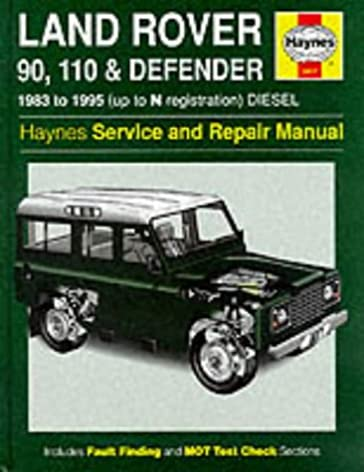 land rover 90 110 and defender service and repair manual haynes rh amazon co uk defender parts manual defender workshop manual td5 download