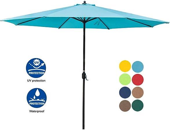 3 Sizes Beach Umbrella UV Protective Outdoor Umbrella Patio Umbrella Market Blue