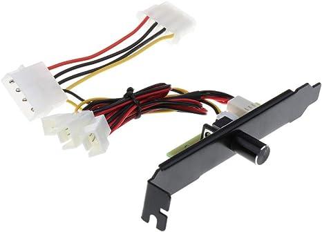 3 Canales Pin PC Cooler Ventilador de refrigeración Regulador de ...