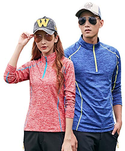 One-Explorer Woman's Long Sleeve Quick Dry Athletic T-Shirt Crew Neck Sunscreen Moisture Wicking Tee