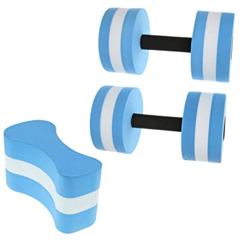 Jili en línea tamaño mediano EVA Aqua Fitness mancuernas (par ...