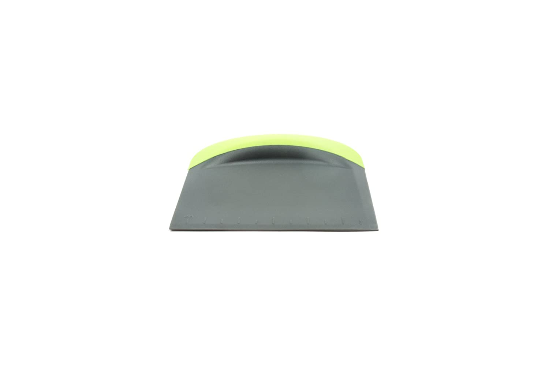 Fox Run 6023 3-In-1 Bowl Scraper/Flat Cutter, Plastic & Silicone, Green