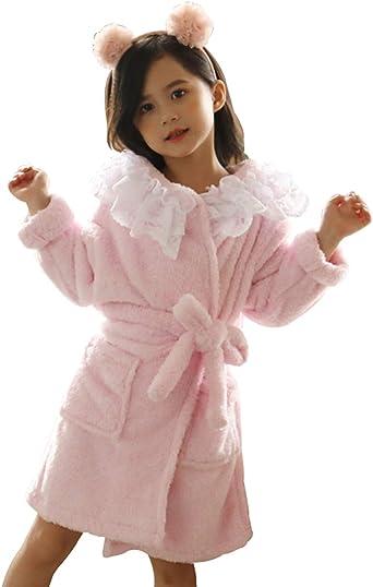 HAHABABY Albornoz Adecuada para Niñas Niños Pijamas Sudaderas Algodón 100% Manga Larga Albornoz De Baño Toalla Playa Disponible en Varias Tallas Batas,Pink,130: Amazon.es: Ropa y accesorios