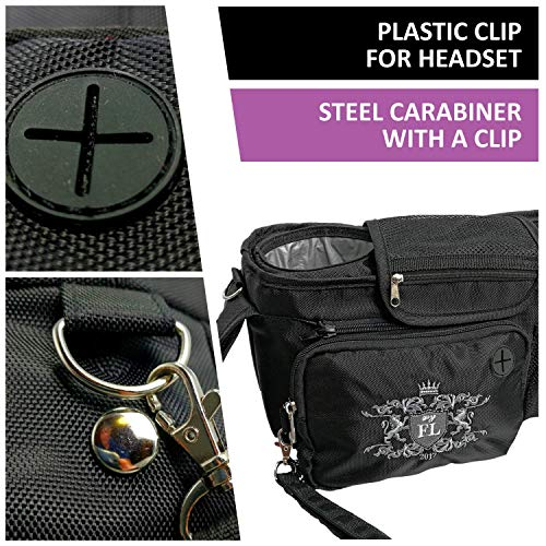 Universal my FL Baby Stroller Organizer with Cup Holders Hanging Storage Bag (Black)