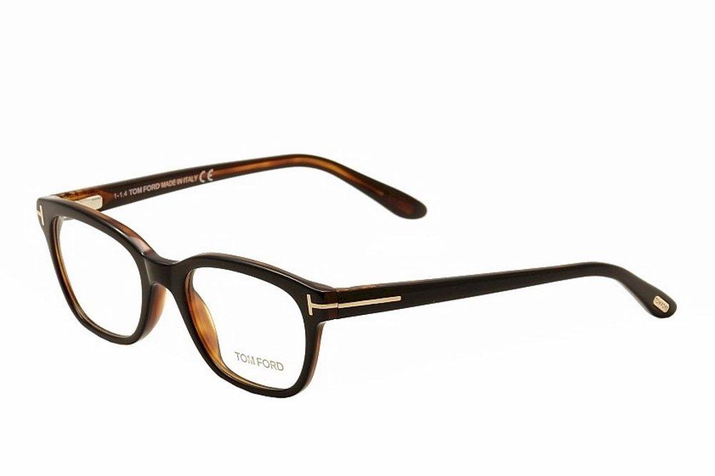 Tom Ford Eyeglasses TF5207 TF/5207 005 Black/Brown Full Rim Optical Frame 49mm