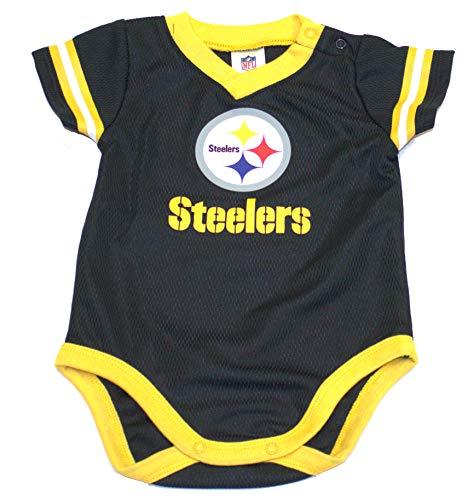 (NFL Pittsburgh Steelers Unisex-Baby Dazzle Bodysuit, Black, 0-3 Months)