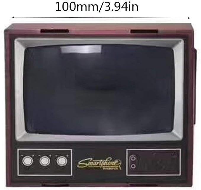 Vintage TV teléfono móvil Smartphone de Pantalla Lupa Amplificador de vídeo ampliada Expander Stand para TV Video Mostrar: Amazon.es: Electrónica