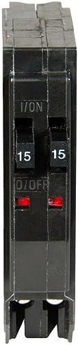 1- QO1515C SQUARE D MINIATURE CIRCUIT BREAKER 120 240V 15A-15A TWIN DUPLEX