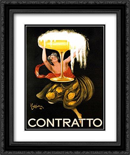 Contratto Ornate Black Framed Art Print by Leonetto Cappiello