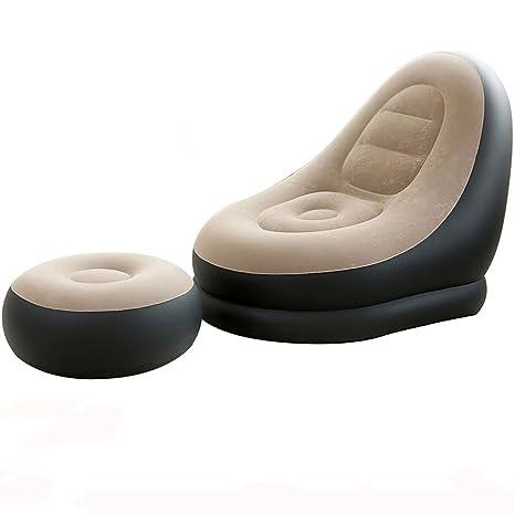 Amazon.com: TZZ inflable sofá tumbona Deluxe silla de salón ...