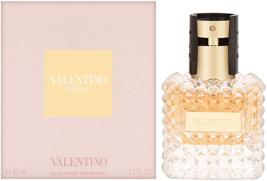 VALENTINO DONNA 50 ml - Eau de parfum (Mujeres, Bergamota, Bergamota, Lirio, Rosa, Iris,Rose, Cuero, Patchouli, Vainilla)
