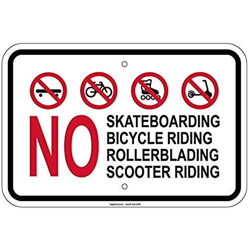 (Diuangfoong No Skateboarding Bike Riding Rollerblading Scooter 18