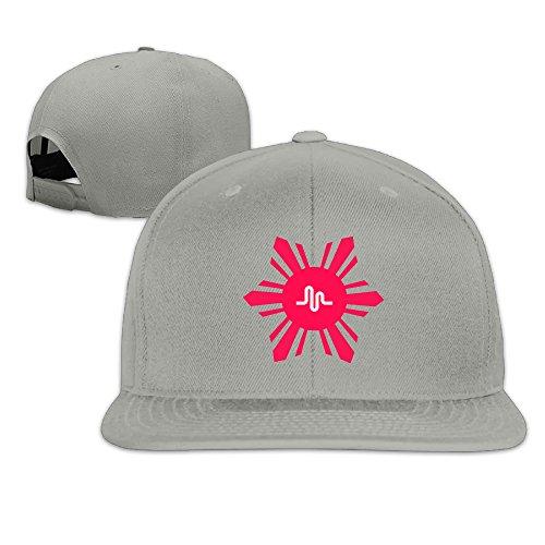 Price comparison product image Karoda Hot Music LY Flat Brim Baseball Caps Hip Hop Hat Ash
