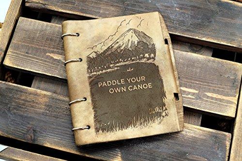 Vintage Canoe Leather notebook / sketchbook on split rings