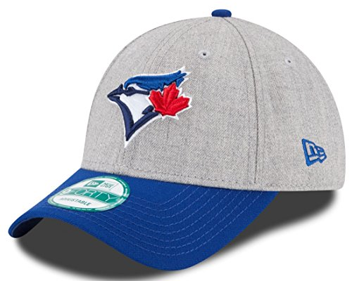 Apparel Blue Jays (New Era MLB Toronto Blue Jays The League Heather 9FORTY Adjustable Cap, One Size, Gray)