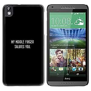 EJOY---Cubierta de la caja de protección la piel dura para el / HTC DESIRE 816 / --SALUDO DEDO MEDIO